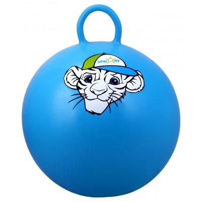 """Мяч-попрыгун """"Тигренок"""" GB-402, 55 см, с ручкой, синий"""