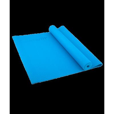 Коврик для йоги FM-101, PVC, 173x61x0,4 см, синий
