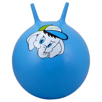 """Мяч-попрыгун """"Слоненок"""" GB-401, 45 см, с рожками, синий"""
