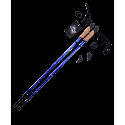 Палки для скандинавской ходьбы Rainbow, 86-140 см, 2-секционные, синие