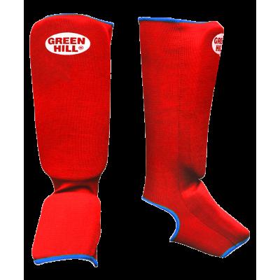 Защита голень-стопа SIC-6131, х/б, красная
