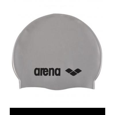 Шапочка для плавания Classic Silicone Cap silver, силикон, 91662 51