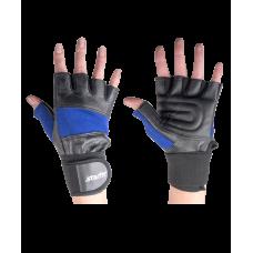 Перчатки атлетические SU-109, синие/черные