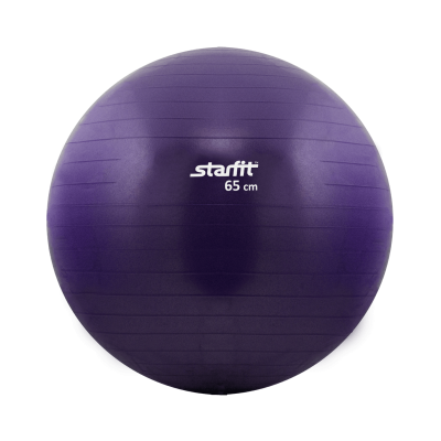 Мяч гимнастический GB-101 65 см, антивзрыв, фиолетовый