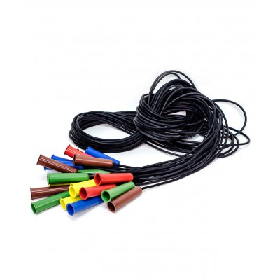 Скакалка резиновая с пластмассовой ручкой, цвет в асс.,1,85м  (только по 10 шт.)