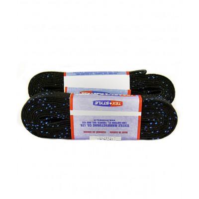 Шнурки для коньков с пропиткой, W918, пара, 3,05 м, черные
