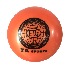 Мяч для художественной гимнастики RGB-101, 15 см, оранжевый