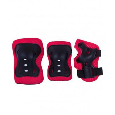 Комплект защиты Rocket, красный/черный