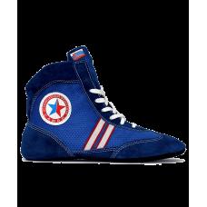 Обувь для самбо WS-3030, замша, синяя
