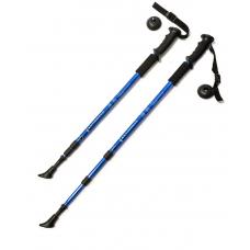 Палки для скандинавской ходьбы, F18433, 60-135 см, 3-секционные, синие