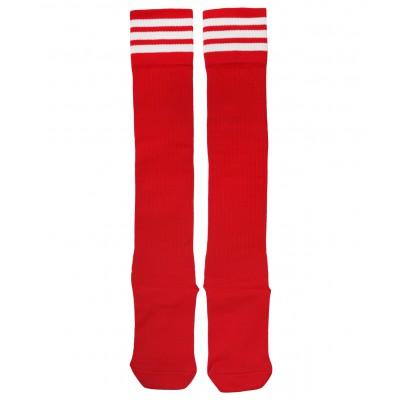 Гетры футбольные 4144, красные/белые