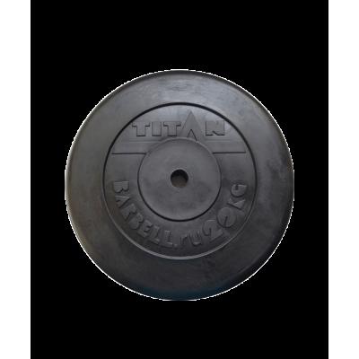 Диск обрезиненный, d=51 мм, черный, 20 кг