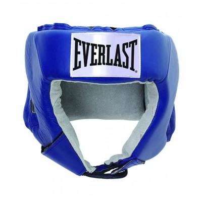Шлем открытый USA Boxing 610206U, M, кожа, синий