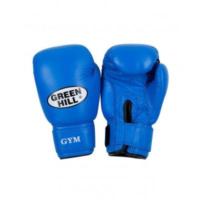 Перчатки боксерские GYM BGG-2018, 12oz, кожа, синие