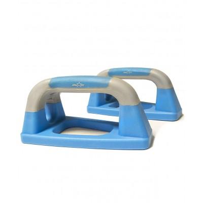 Упоры для отжиманий «Утюжки» BA-303, синие/серые