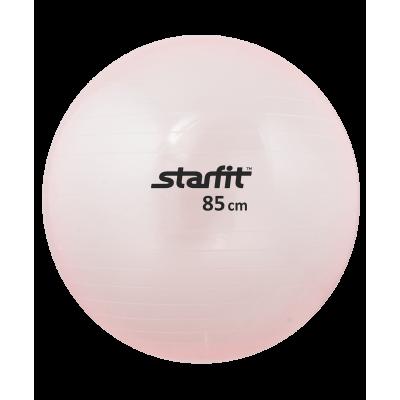Мяч гимнастический GB-105 85 см, прозрачный, розовый