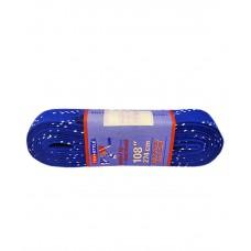 Шнурки для коньков с пропиткой W925, пара, 2,74 м, синие