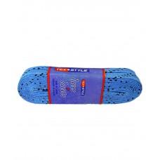 Шнурки для коньков с пропиткой W924, пара, 2,44 м, голубые