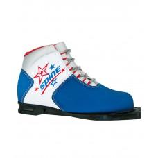 Ботинки лыжные NN75 Kids 299/1, синт. кожа, синие