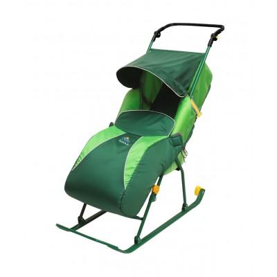 """Санки-коляска """"Тимка 2 Классик"""" Т2КЛ, зеленые"""