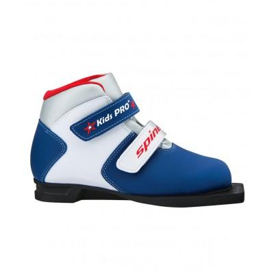 Ботинки лыжные NN75 Kids Pro 399/1, синт. кожа, синие