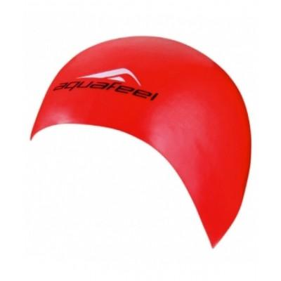 Шапочка для плавания AquaFeel Silicon CAP, силикон, 3046-40, красная