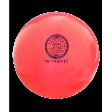 Мяч для художественной гимнастики 20 см, 400 г, коралловый с блестками