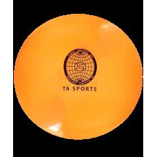 Мяч для художественной гимнастики 20 см, 400 г, оранжевый с блестками