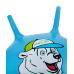 """Мяч-попрыгун """"Медвежонок"""" GB-403, 65 см, с рожками, синий"""