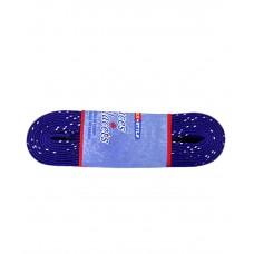 Шнурки для коньков с пропиткой  W925, пара, 2,44 м, синие