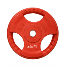 Диск обрезиненный BB-201, d=26 мм, красный, 5 кг