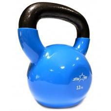 Гиря виниловая DB-401, синяя, 12 кг