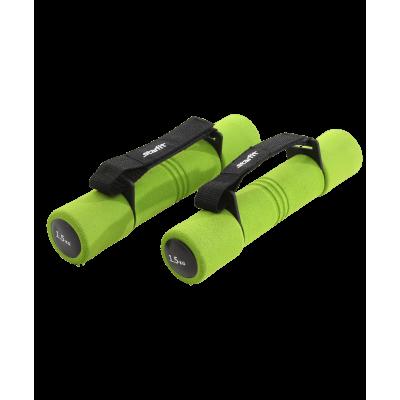 Гантель неопреновая DB-203 1,5 кг, зеленая