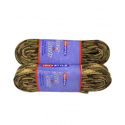 Шнурки для коньков с пропиткой W930, пара, хаки 2,44 м