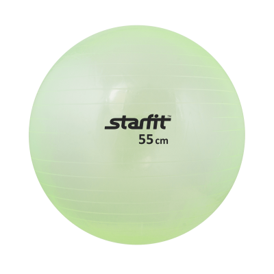 Мяч гимнастический GB-105 55 см, прозрачный, зеленый