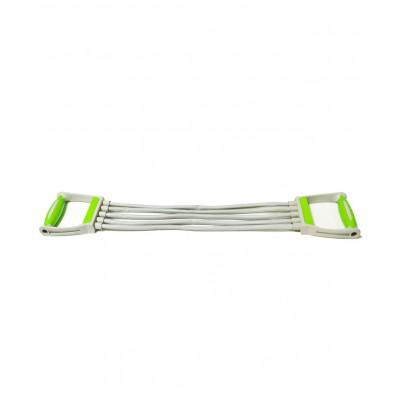 Эспандер плечевой ES-102, 5 струн, резиновый, зеленый