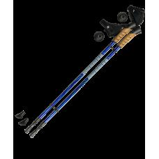 Палки для скандинавской ходьбы Rainbow, 83-135 см, 2-секционные, тёмно-синие/синие