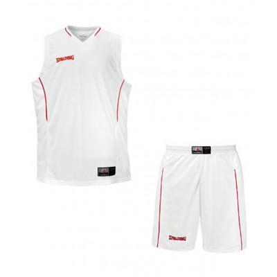 Форма баскетбольная, бело-красная