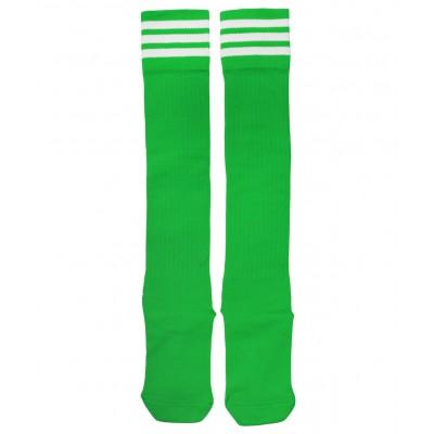 Гетры футбольные 3740, зеленые/белые