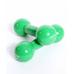Гантель виниловая DB-102 2 кг, зеленая