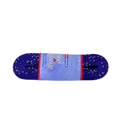Шнурки для коньков с пропиткой W925, пара, 3,05 м, синие